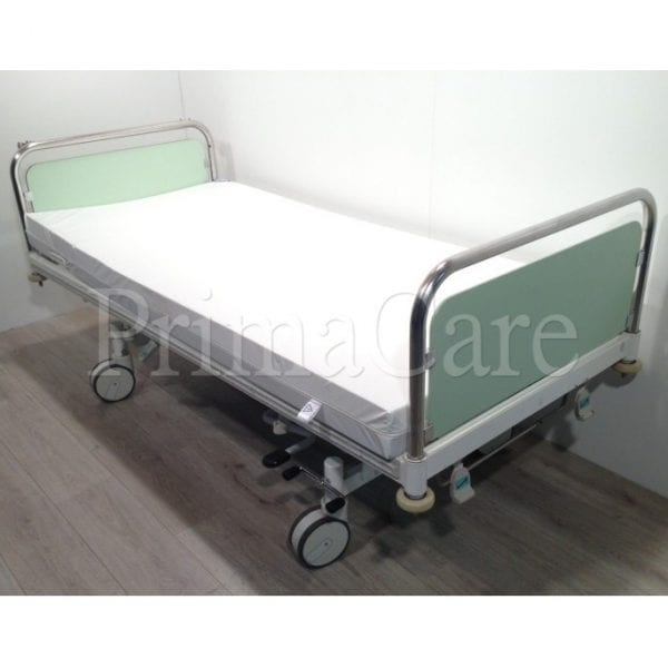 Hospital bed - 2 section - Hydraulic - stiegelmeyer - refurbished - Height adjustable