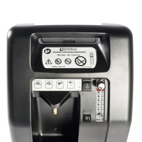 DevilBiss Compact 525 Oxygen Concentrator - Controls