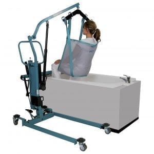 Patient lifter hoist - for bath - aks - foldo 1