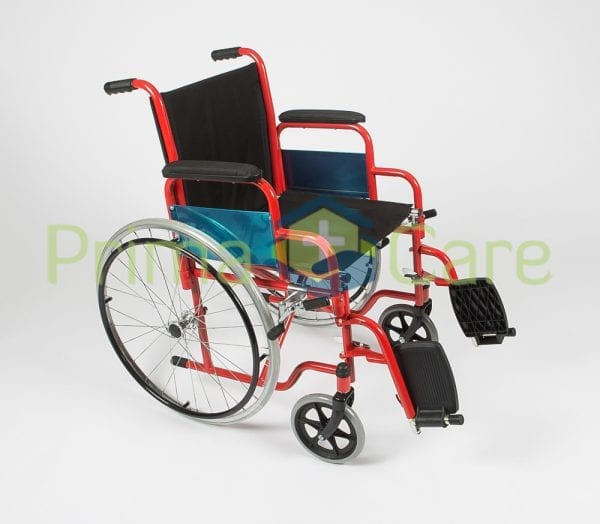 Wheelchair - Delux - Foot rests up