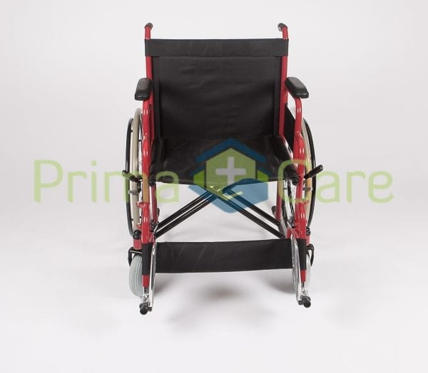 Wheelchair - Heavy Duty - Front view with foot rest up
