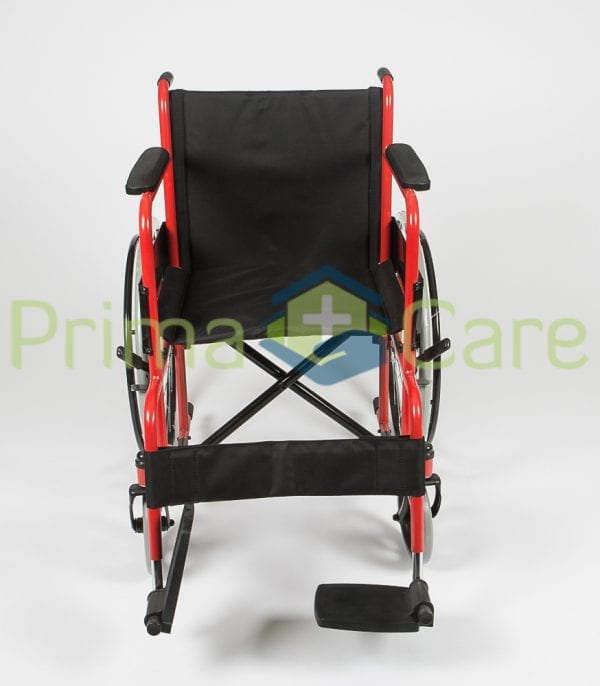 Wheelchair - Standard - Front view with foot rest up
