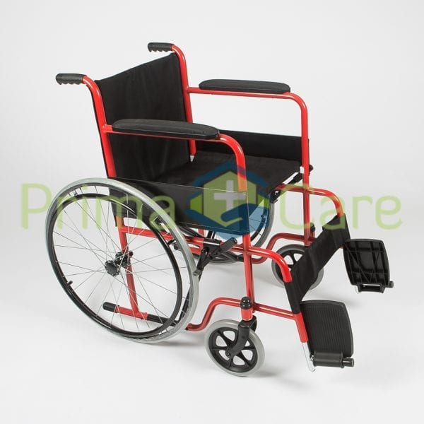 Wheelchair - Standard - Side view with foot rests up