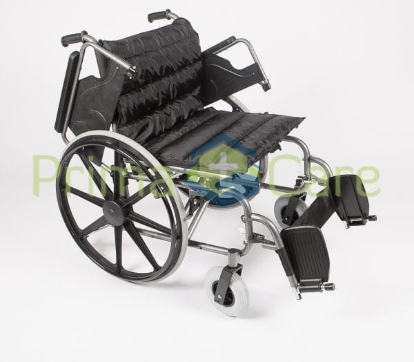 Wheelchair - Super Heavy Duty - flip up arm and foot rests