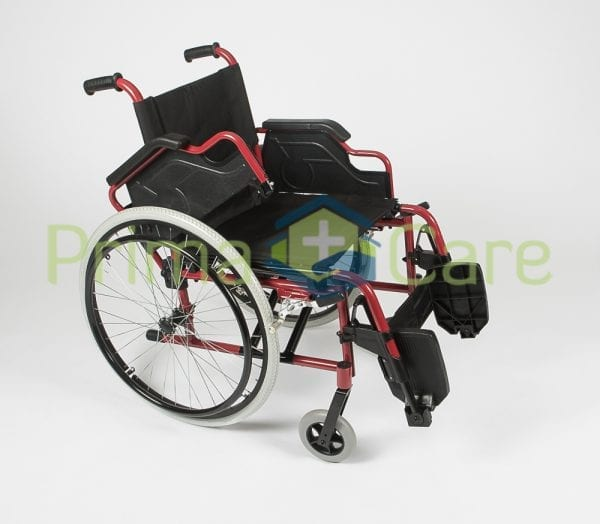Wheelchair - Ultra Deluxe - arm and foot rest flip up
