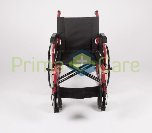 Wheelchair - Ultra Deluxe - fron view with foot rests up