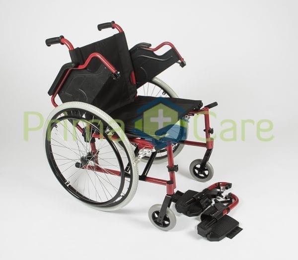 Wheelchair - Ultra Deluxe - removable foot rests