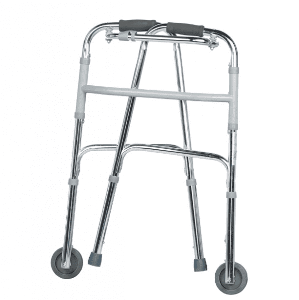 Zimmer Frame - With Wheels - Folded