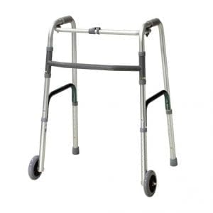 Zimmer Frame - With Wheels - One Button