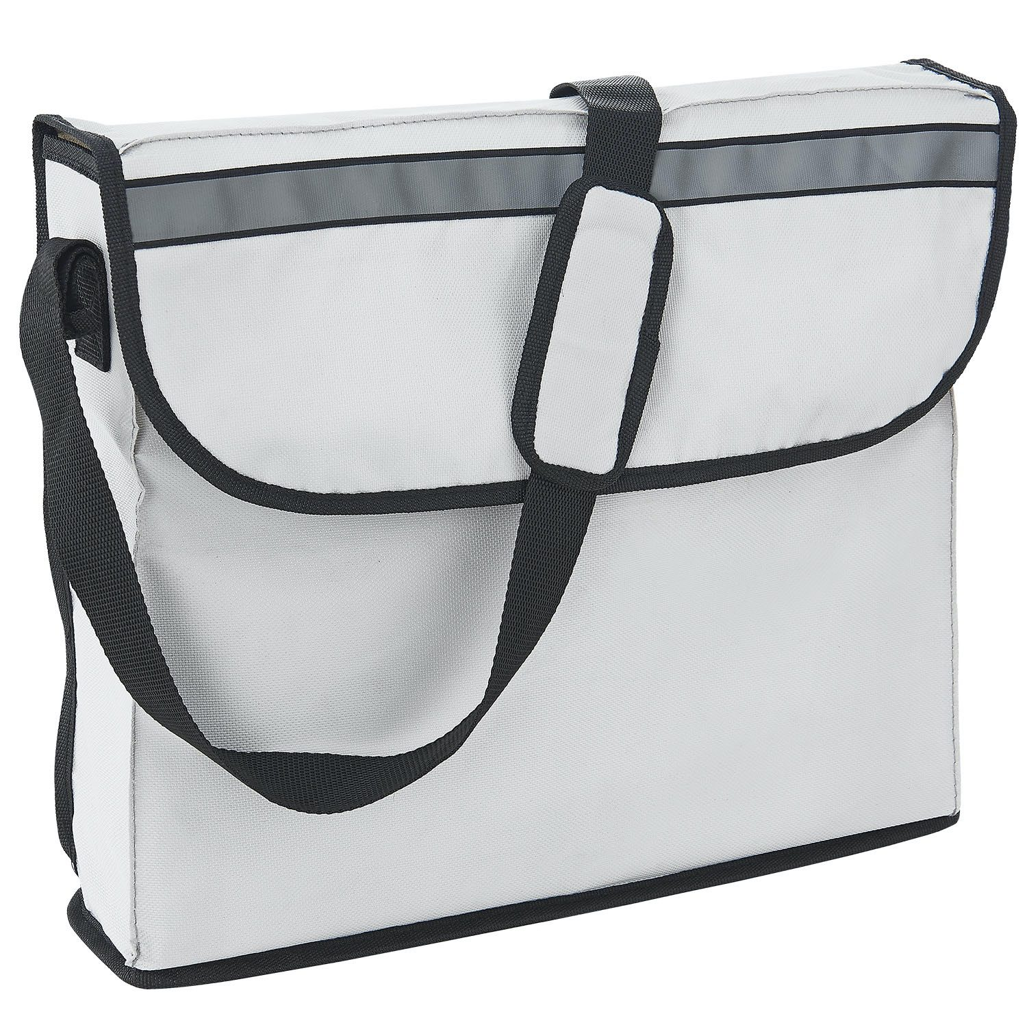 Rollator - HealthSmart - Folding - Silver - Removable Bag with Strap
