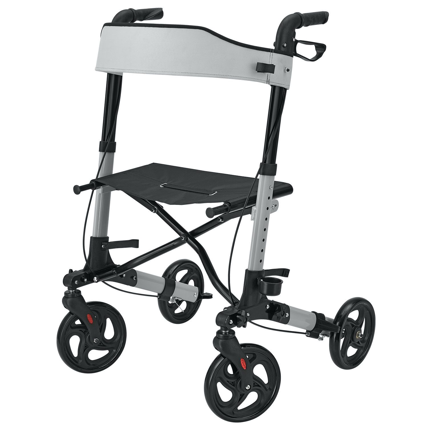 Rollator - HealthSmart - Folding - Silver - Without Bag