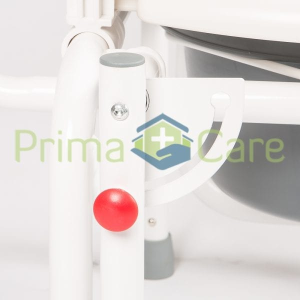 Commode - Drop arm - release button