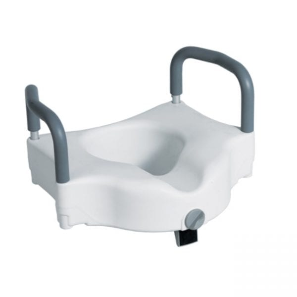 Raised Toilet Seat - With Arms