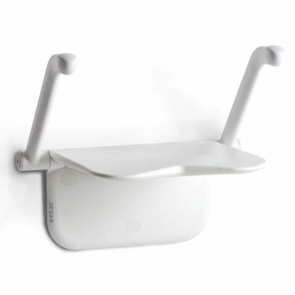 Shower seat - etac - wall mounted - white