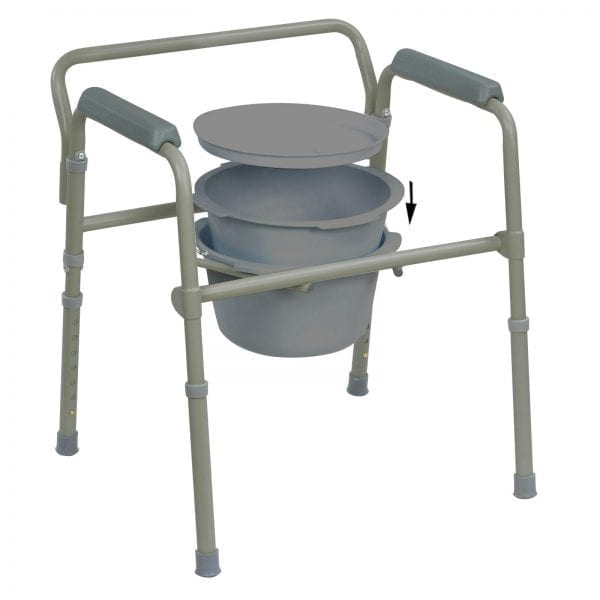 Commode - Standard - Folding - removable bucket and liner