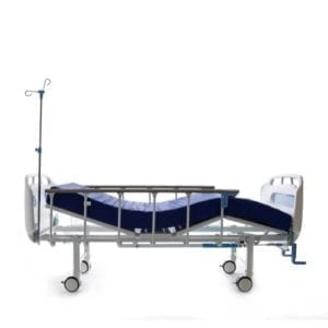 2_Crank_Manual_Hospital_Bed_With_2_Functions_and_IV_Pole