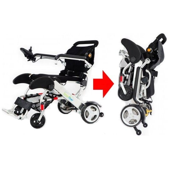 Electric Wheelchair - KD Smart - Normal to folded position