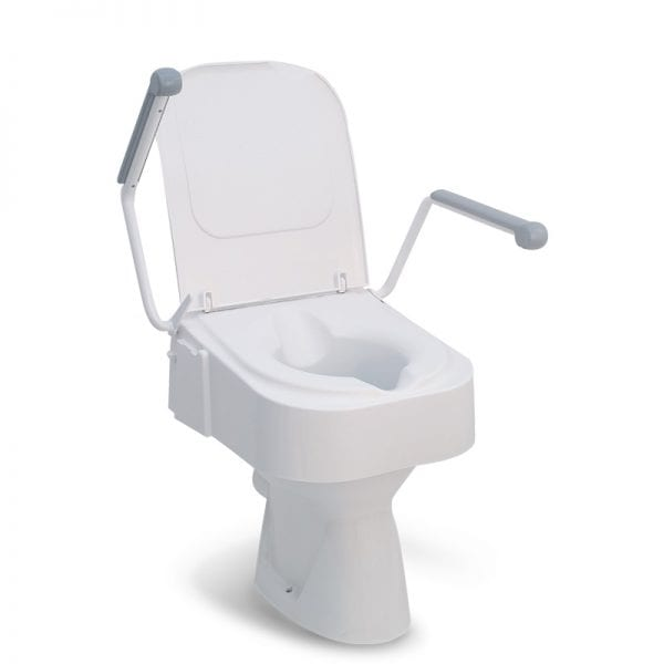 Raised Toilet Seat - Drive Medical - Height Adjustable with Arms