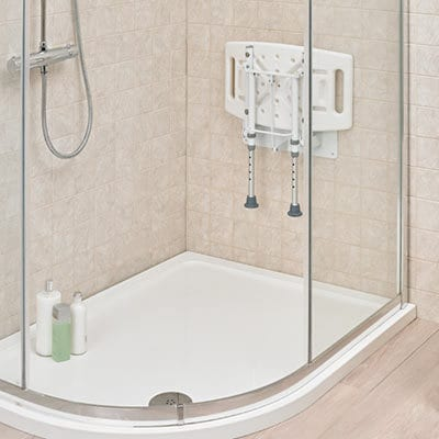 Shower Chair - Drive Medical - Wall mounted - Folded up