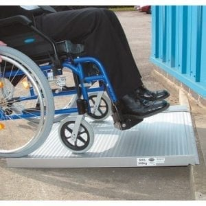 Wheelchair Ramp - Drive Medical - Roll Up - In use