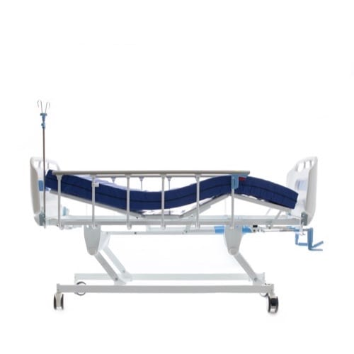 3_Crank_Hospital_Bed_Side_View_With_Functions
