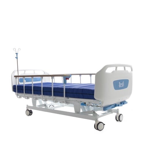 3_Crank_Hospital_Bed_With_Side_Rails_Up