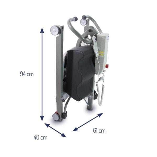 Patient Lifter - Drive Medical - Sit to Stand - Novaltis - Dimensions