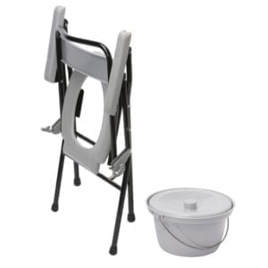 Commode - Drive Medical - Folding - Fixed Height - Fodled position