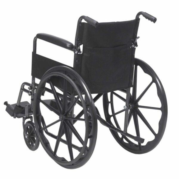 Wheelchair - Drive Medical - Silver Sport - Rear View