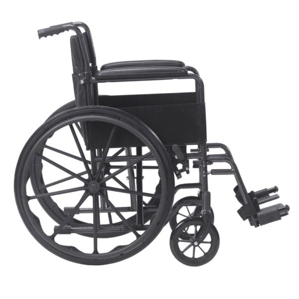Wheelchair - Drive Medical - Silver Sport - Side View
