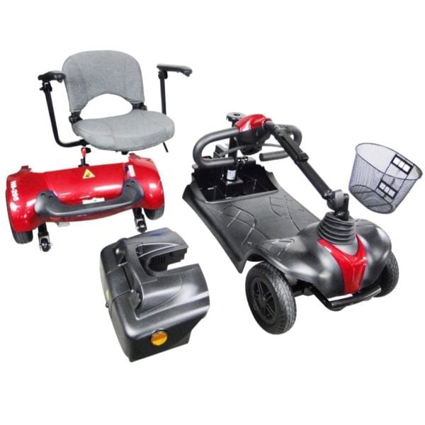 Mobility Scooter - CTM - HS 295 - Red - Disassembled