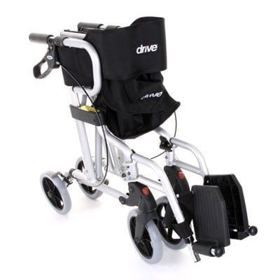 Rollator - Drive Medical - Diamond Deluxe - Silver - Folded