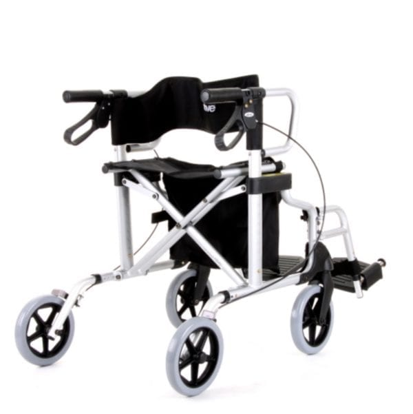 Rollator - Drive Medical - Diamond Deluxe - Silver - Rear View