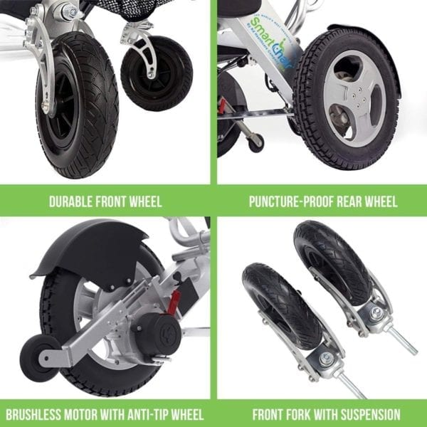 Electric Folding Wheelchair – KD Smart - Special Edition - Wheels