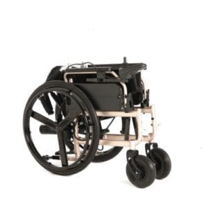 Electric Wheelchair Explorer Elite Folded for Transport