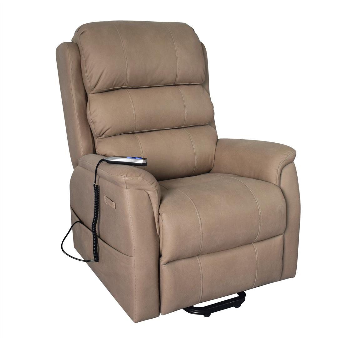 Rise Recliner - Dr Mobility - Milano - Dual Motor - Stone Beige