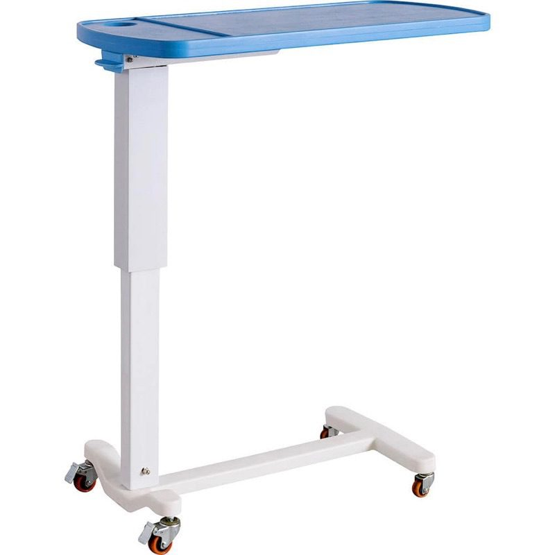 Blue_ABS_Overbed_Table_Height_Adjustable